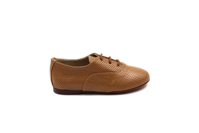 Papanatas Camel Weaved Oxford Shoe