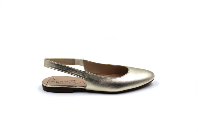 Papanatas Gold Pointed Slingback