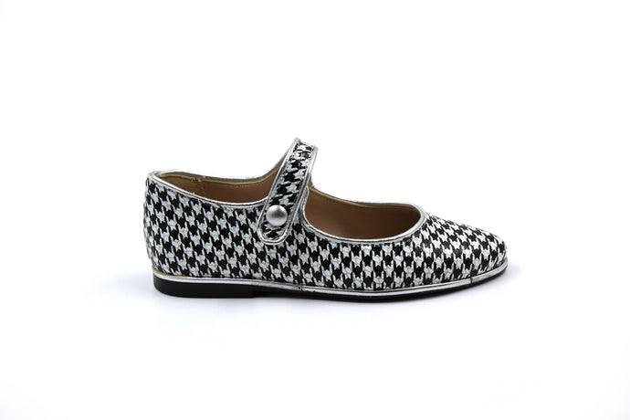 Papanatas Houndstooth Pointed Mary Jane