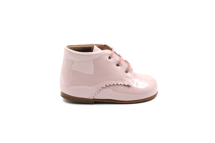 Papanatas Pink Patent Leather Baby Bootie