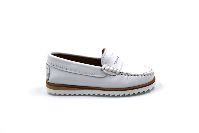 Papanatas White Penny Loafer