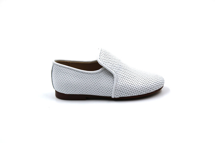 Papanatas White Weaved Smoking Shoe