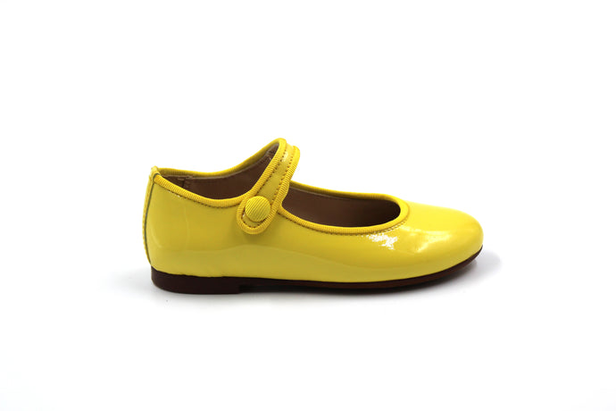 Papanatas Yellow Patent Mary Jane
