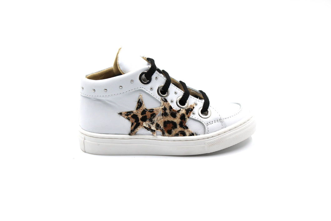 Papanatas White High Top Star Sneaker