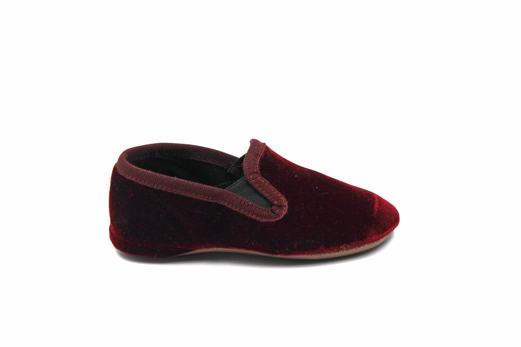 Pepe Maroon Velvet Smoking Slipper