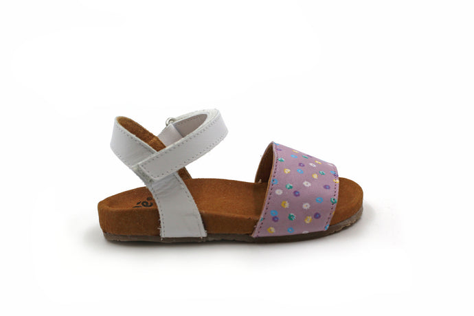 Pepe White and Purple Flowers Sandal