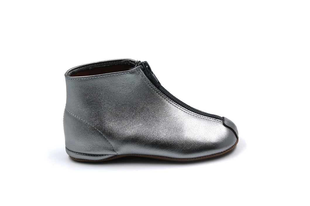 Pepe Pewter Zipper Bootie
