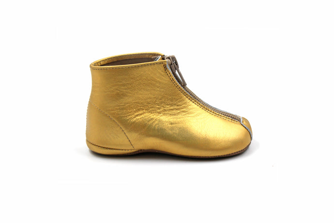 Pepe Gold Zipper Bootie