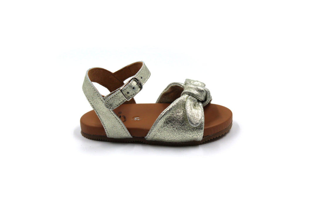 Pepe Gold Bow Sandal