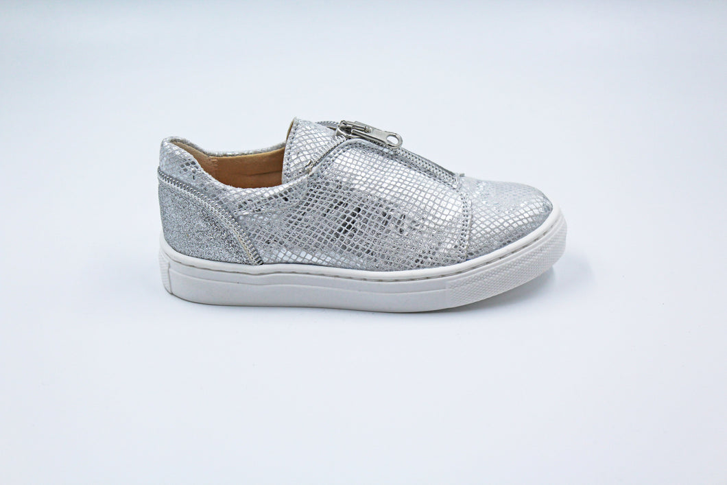 Papanatas Silver Design Zipper Sneaker