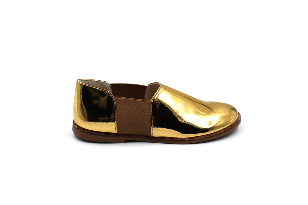 Sonatina Gold Elastic Smoking Shoe