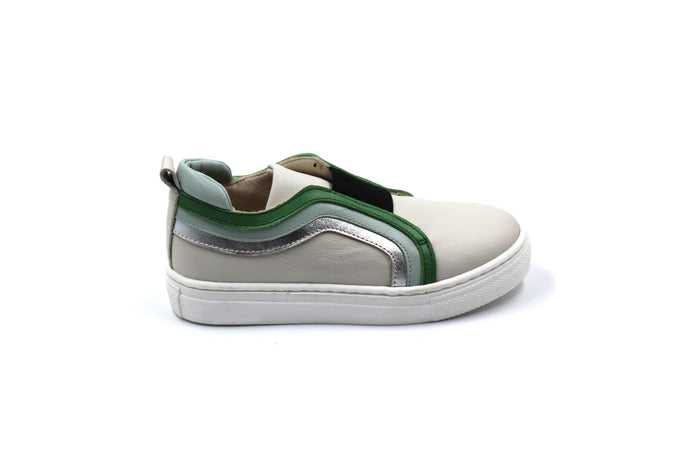 Sonatina Green Detail Slip On Sneaker