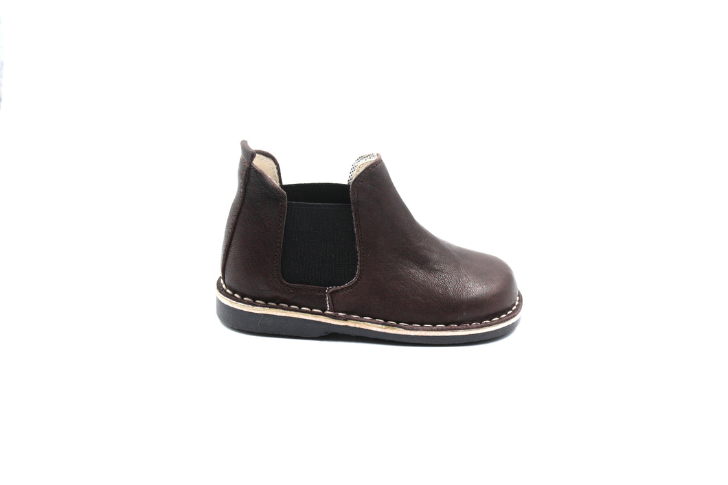 Sonatina Brown Leather Bootie