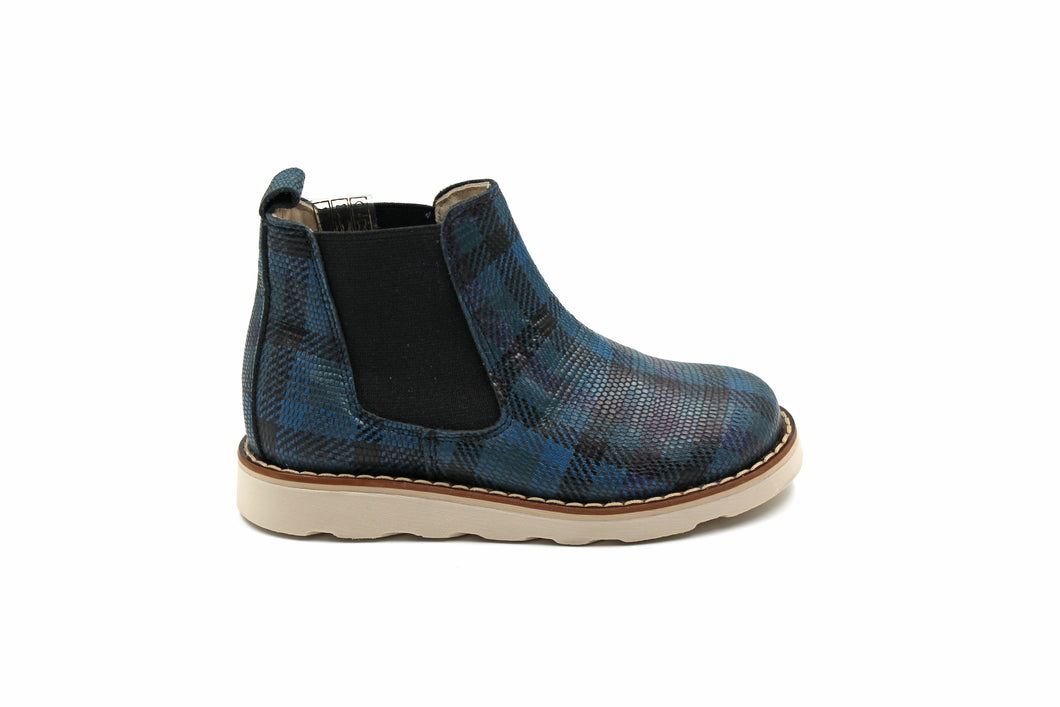 Sonatina Blue Plaid Bootie