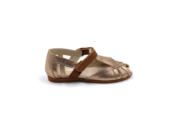 Sonatina Camel and Copper Closed Toe Sandal