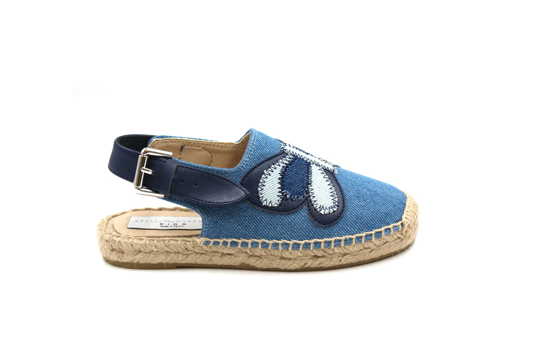 Stella Mccartney Denim Butterfly Slingback