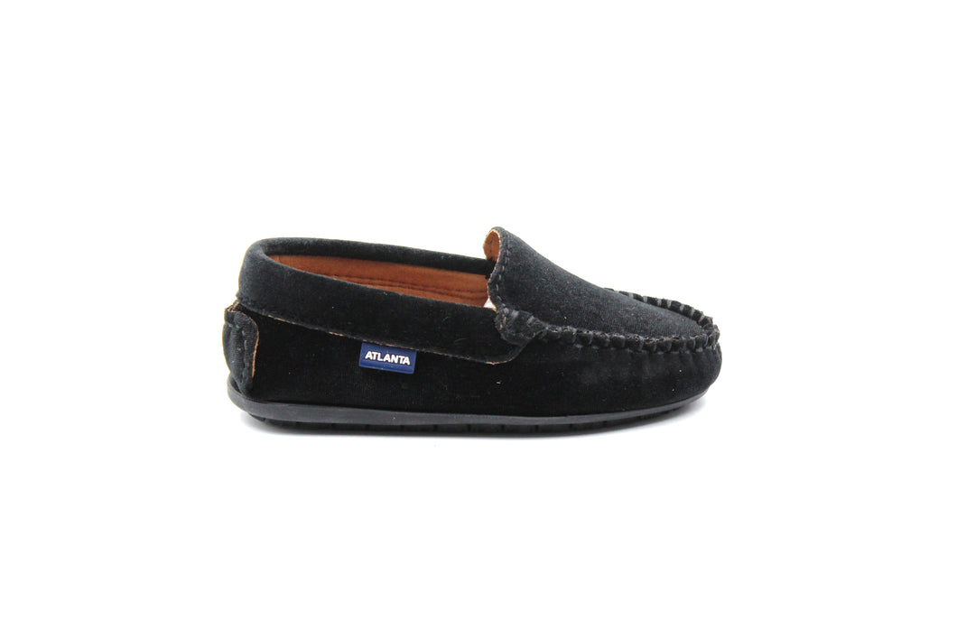 Atlanta Black Velvet Loafer