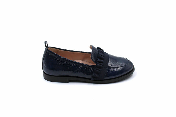 Beberlis Navy Ruffle Kids Loafers