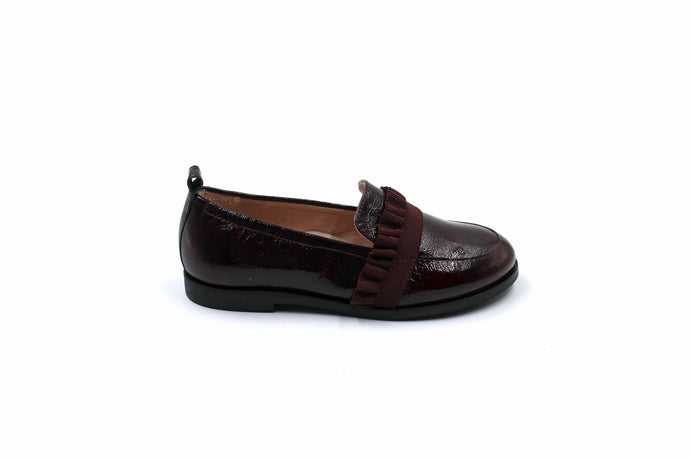 Beberlis Maroon Ruffle Children's Loafer