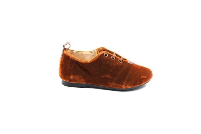 Manuela De Juan Brown Velvet Oxford