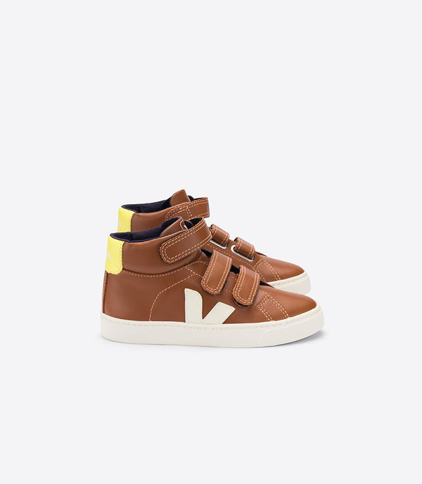 Veja Esplar Hi-Top Leather Trainers Camel