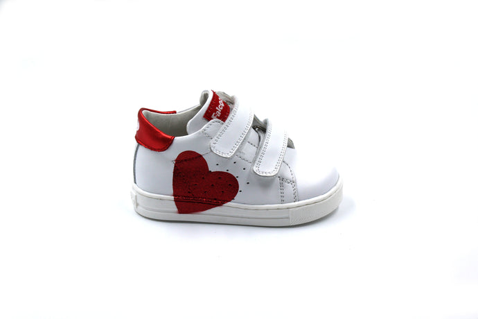Falcotto White Heart Velcro Sneaker