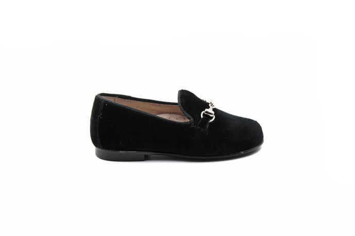 Hoo Black Velvet Smoking Shoe