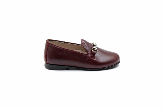 Hoo Maroon Smoking Kids Dress Shoes