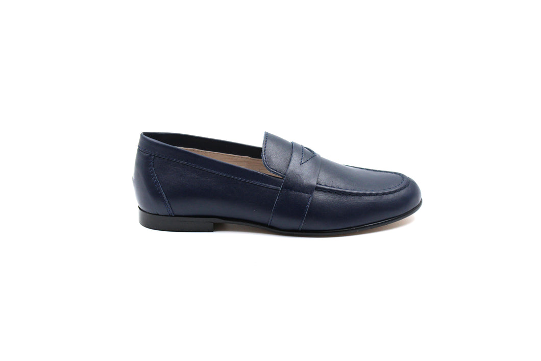 Boys Dress Shoes Hoo Navy Penny Dress Shoes