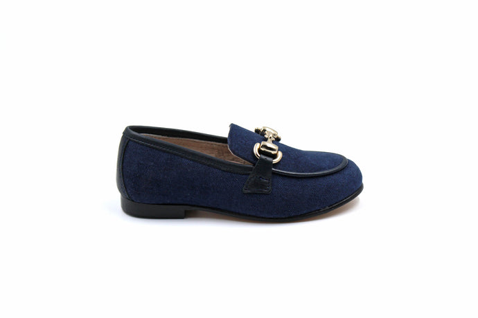 Hoo Navy Textured Loafer