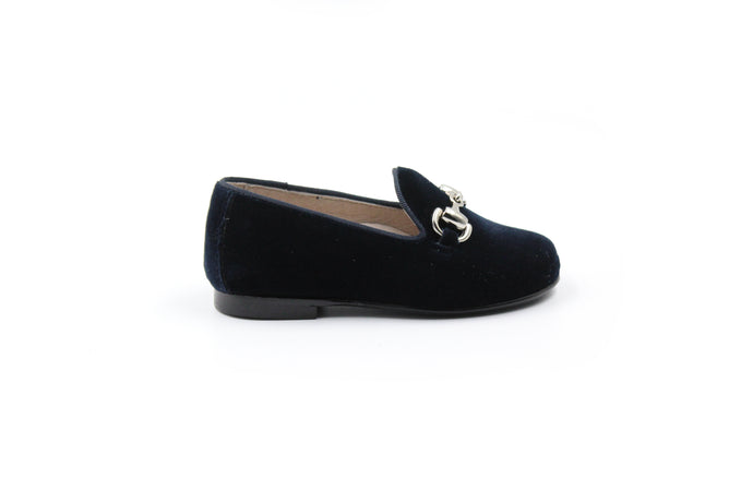 Hoo Navy Velvet Smoking Shoe
