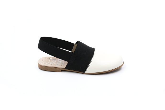Hoo Black and White Slingback