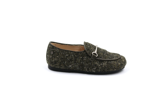 Manuela De Juan Khaki Tweed James Loafer