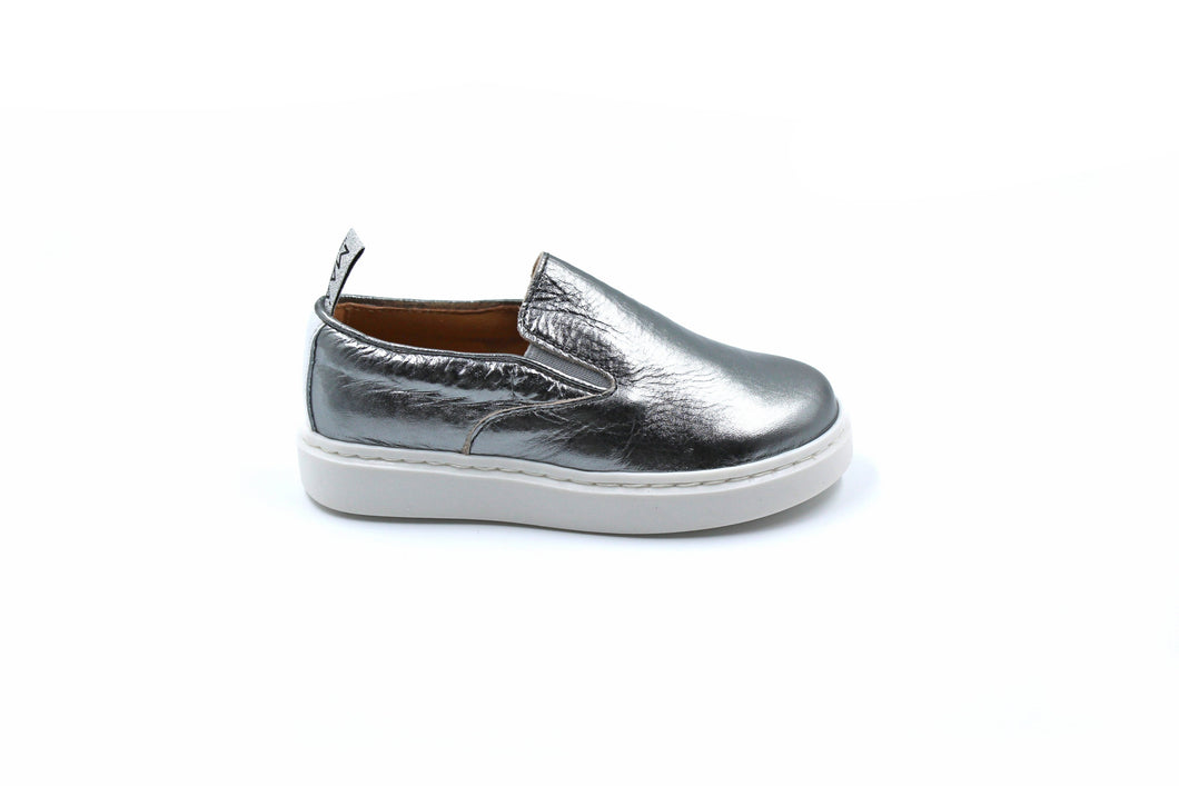MAA Metallic Slip On Kids Baby Toddler Sneaker