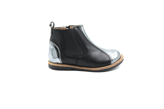 Manuela De Juan Gray and Silver Bootie