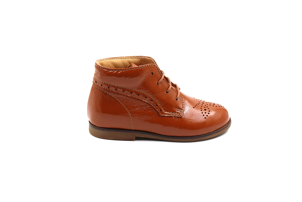 Ocra Camel Lace Up Bootie