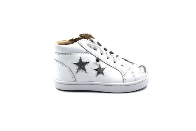 Old Soles White Star High Top Sneaker