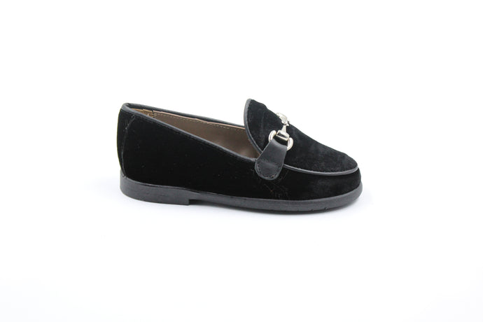 Papanatas Black Velvet Loafer