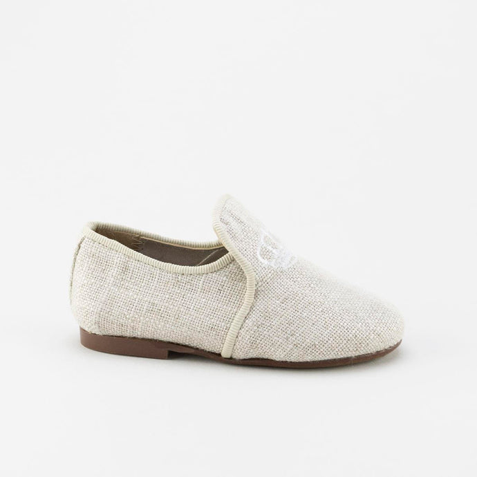 Papanatas Linen Crown Smoking Shoe