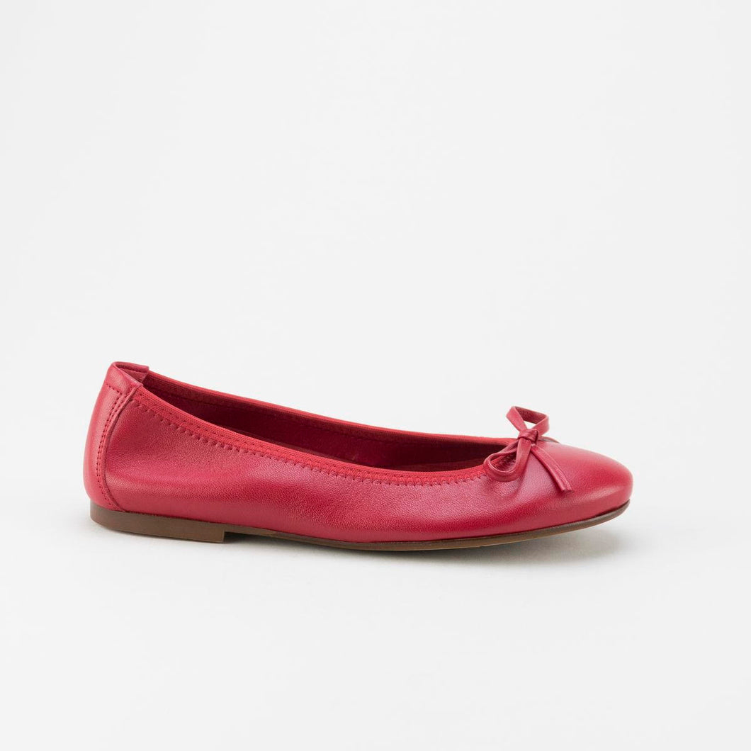 Papanatas Red Leather Ballet Flat