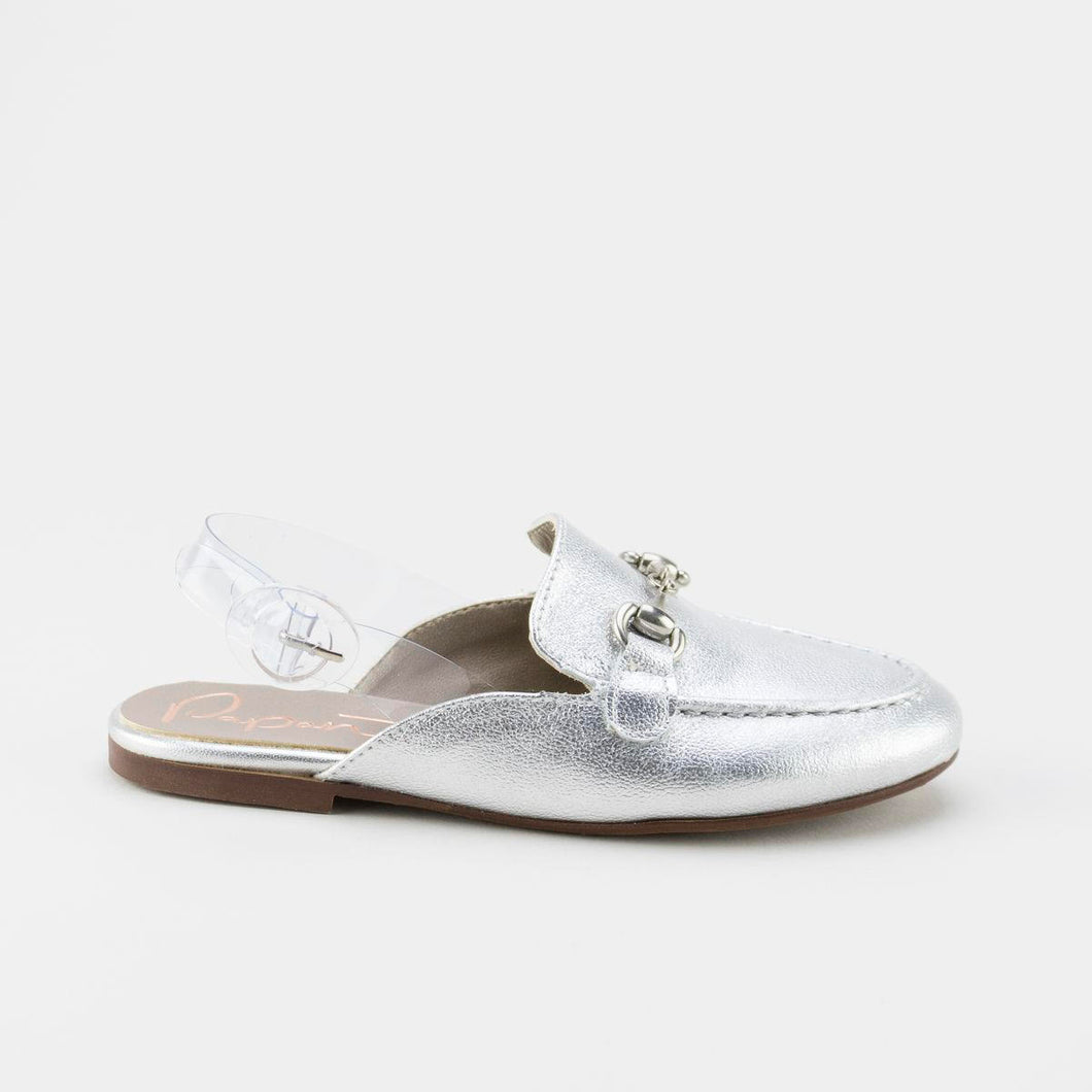 Papanatas Silver Buckle Sling Back