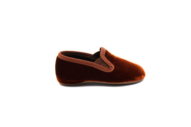 Pepe Brown Velvet Smoking Slipper