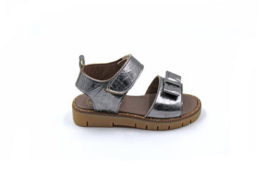 Pepe Silver Bow Sandal