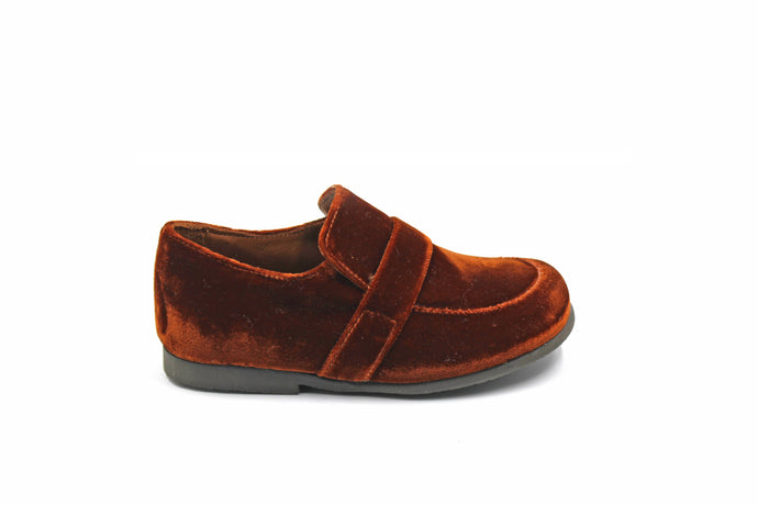 Pepe Brown Velvet English Loafer
