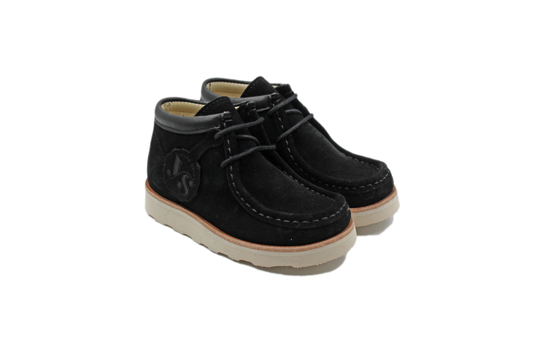 Young Soles Black Suede Wallabee Bootie