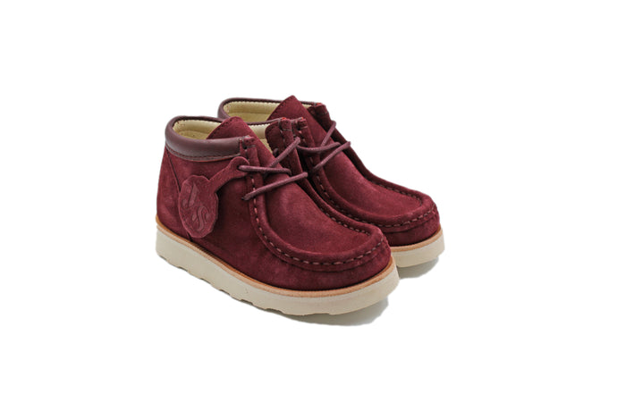 Young Soles Cherry Suede Wallabee Bootie