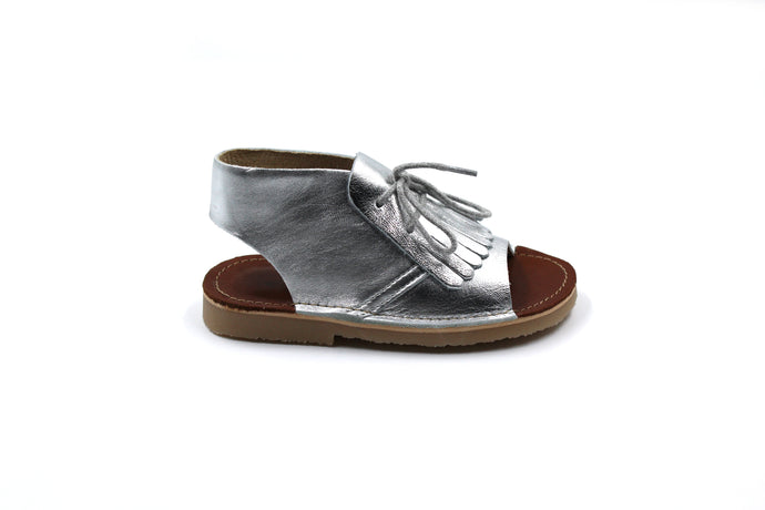 Young Soles Silver Tassel Sandal