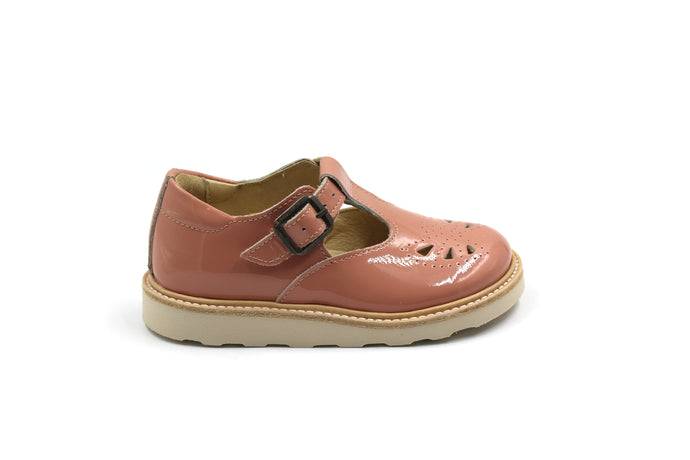 Young Soles Pink European T-Strap