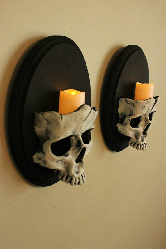 Set of Skull Sconces ( ×2 )