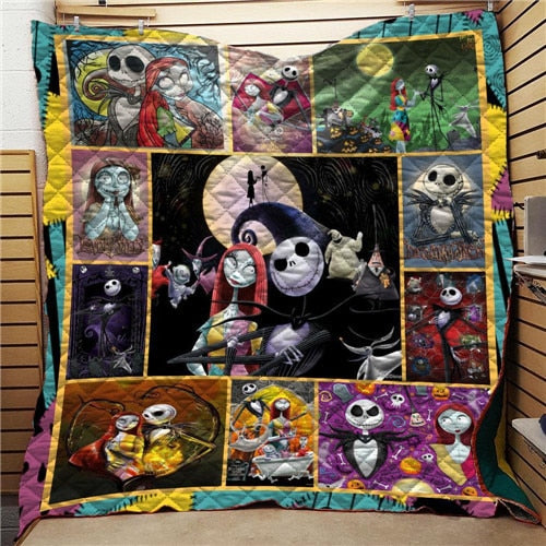The Nightmare Before Christmas Jack Summer Quilt Blanket Mat 3D